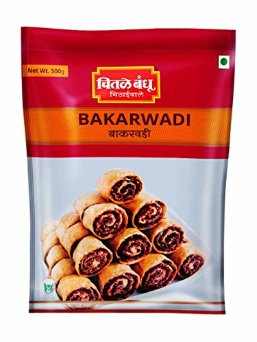 CHITALE BANDHU MITHAIWALE Bakarwadi, 500gm – Pack of 2