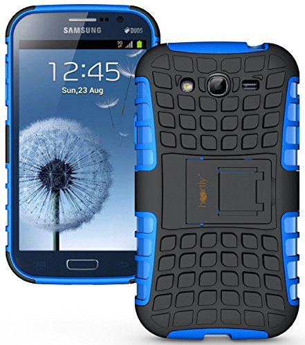 Heartly Flip Kick Stand Hard Dual Armor Hybrid Rugged Bumper Back Case Cover For Samsung Galaxy S3 S 3 i9300 - Blue  available at amazon for Rs.399