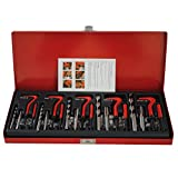CCLIFE Juego de reparación de roscas 131 piezas M5 M6 M8 M10 M12 kit reparacion roscas helicoidales helicoil kits