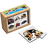 Wooden Jigsaw Puzzzle For Toddlers - Pack Of 6 Vehicle Jigsaw Puzzle For Kids (24 Pieces Puzzle)