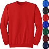 KIDS BOYS GIRLS SWEAT SHIRT SCHOOL UNIFORM PULL OVER JUMPER BRUSHED FLEECE TOPS