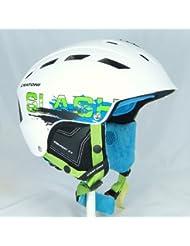 Skihelm Cratoni Slash-TS white-petrol matt