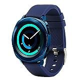 Fit-power – Smartwatch-Ersatzarmband, 20 mm, für Samsung Gear Sport / Samsung Gear S2 Classic / Huawei Watch 2 Watch / Garmin Vivoactive 3 / Garmin Vivomove HR, marineblau