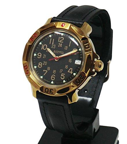 'CUCUBA Armbanduhr Wostok Bewegung mechanisch Soviet Russland 17Rubin–Idee Geschenk Mod: 039