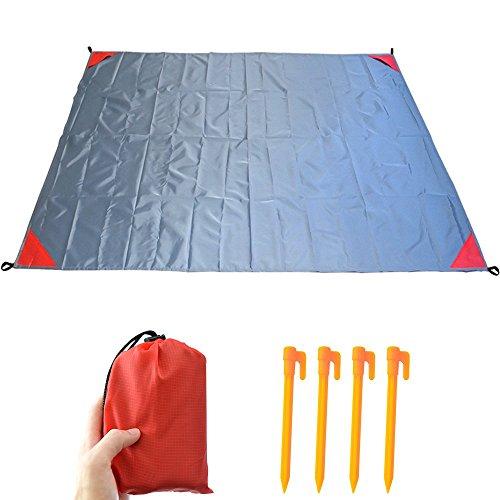 """AidSci Beach Blanket, Wasserdicht Sandfrei Strandmatte, Portable Picknickdecke mit 4 Pins Für Camping Reisen Wandern Picknick Outdoor 140 x 200 cm (56""""x 80"""")"""
