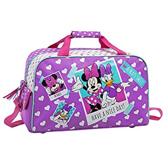 Disney Minnie Daisy Nice Day Bolsa de Viaje, 25.88 Litros, Color Rosa