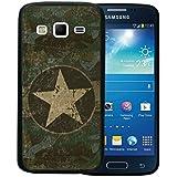 Funda Samsung Galaxy Express 2, WoowCase [ Samsung Galaxy Express 2 ] Funda Silicona Gel Flexible Estrella Militar, Carcasa Case TPU Silicona - Negro