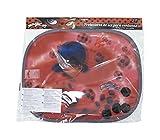 Miraculous LB11876 Set de 2 Pare-Soleil Voiture, Rouge, 44 x 36 cm