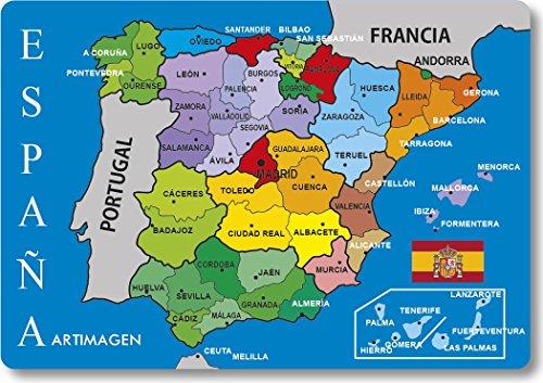 Artimagen Imán Mapa Provincias España 80x55 mm.