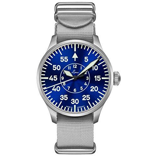 Fliegeruhr Basis Aachen Blaue Stunde 42 von Laco – Made in Germany – 42mm Ø hochwertige Automatikuhr – Einzigartige Qualität. Herausragende Verarbeitung – Wasserdicht im zeitlosem Design – seit 1925
