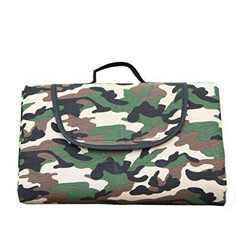 IT-Camo beach picnic stuoia cuscino, tessuto di flanella, impermeabile e portatile 1.5 * 1.8 m