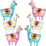 Gejoy 6 Pezzi Palloncino di Stagnola Lama Alpaca Lama a Tema Pallone della Festa di Compleanno per Compleanno Festa Fornitura