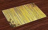ABAKUHAUS Maschera Kabuki Tovaglıetta amerıcana, Vecchia Persona Giapponese, Tessuto Lavabile e solidita' del Colore per la Sala dicena e Cucina, Multicolore