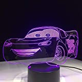 3D-Nachtlicht, Nachtlampe, Nachtlicht, kleine/kleine Nachtbeleuchtung, Super Car Rac Car Table Illusion Kinder Kinder Schlafzimmer Dekor Sitt Room Halloween Geschenk