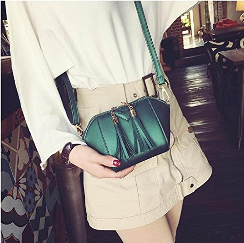 Dfucf Ladies Pu Ufficio Occupazione Messenger Bag Messenger Bag Tracolla Moda Casual Durevole Classic Party Clover