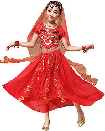 Astage Indische Kleidung Bollywood Orient Kleid Halloween Karneval Kostüme (Indische Bollywood Tanz Kostüm)
