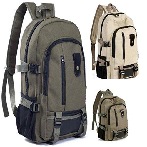 BZLine® Leinwand Rucksack Ranzen Sportschule Wandern Tasche, 43cmX29cmX15cm Braun