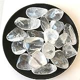 AITELEI Piedra pulida de 1 lb con cristales blancos grandes, piedra de cuarzo para Wicca,Reiki Crystal Healing Home Decor