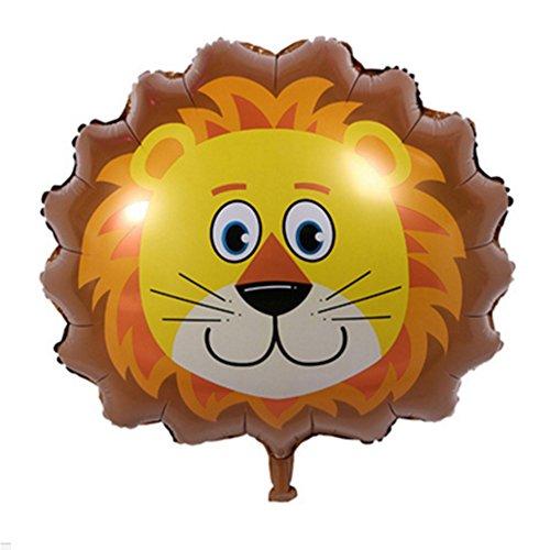 (Tierkopf Ballons, YooGer bunte Tiere wiederverwendbare Folie Ballons für Geburtstag Baby Shower Party Dekorationen Geschenk, 2 Pack (Lion))