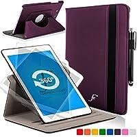 Forefront Cases® Samsung Galaxy Tab E Lite 7.0 SM-T113 Funda Carcasa Stand Smart Case Cover Protectora Giratorio de Cuero – Función automática inteligente de Suspensión/Encendido