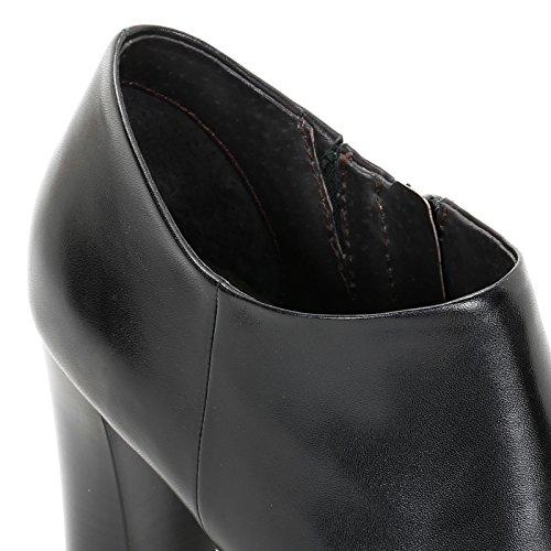 ALESYA by Scarpe&Scarpe - Bottines hautes avec bout pointu, en Cuir, à Talons 9 cm Noir