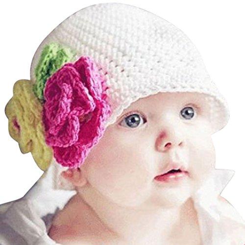 Oyedens Fotografia Bebes Newborn Photography Props 2016 Caliente Lindo Infantil NiñO Del Bebé De Punto De Ganchillo Flores Del Casquillo Del Sombrero De La Gorrita Tejida