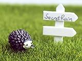 Miniature Resin Garden Fairy Ornament Flower Pot Plant Pot Home Decor Hedgehog & Mushroom Set