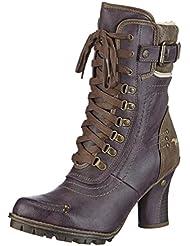 Mustang Schnür-Booty Damen Kurzschaft Stiefel