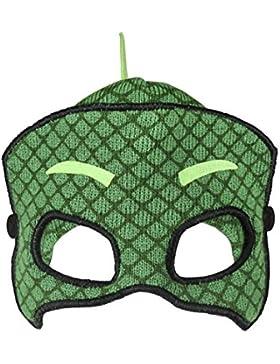 PJ Masks Super Pigiamini 2200-2598 Cappello Invernale 3D, Maschera, Acrilico, Bambino, Multicolore, Geco