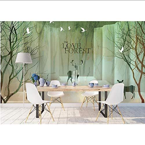 Ytdzsw Fertigen Sie Tapetentier Tapete Für Wände 3D Für Wohnzimmer-Hintergrund-Wand Besonders An-350X245Cm