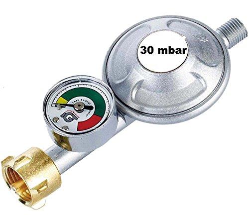 Gasregler 30 mbar Druckminderer Druckregler mit Manometer und Schlauchbruchsicherung Propan Butan