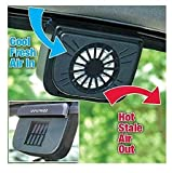 #7: Cartshopper Auto Cool Ventilation Car Window Fan with Solar Powered Exhaust System