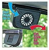 #10: Cartshopper Auto Cool Ventilation Car Window Fan with Solar Powered Exhaust System