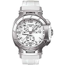 Tissot T-Race T0482171701700 40 Stainless Steel Case White Rubber Women's Quartz Watch