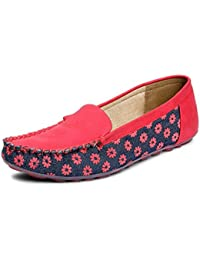 MERIGGIARE WOMEN RED SYNTHETIC LOAFERS