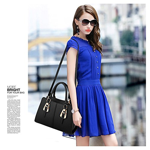 Borsa da donna Yoome per borse donna casual per donne borse da donna crossbody per ragazze Borsa elegante - Borgogna Crema