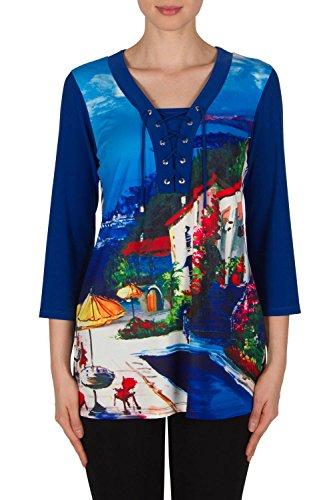 Joseph Ribkoff colorful City Print Tunic Style 182650