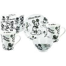 CARBOMBONIERE Juego de 3 piezas de porcelana de Walt Disney - Colección: Mickey Sketch -