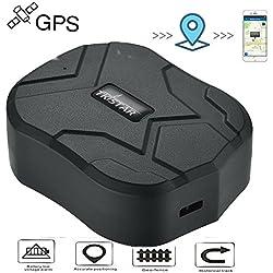 TKSTAR GPS Tracker Auto LKW Fahrzeug Echtzeit-Tracking GPS Ortung Locator 150 Tage Lang Standby mit Starken Magnet Diebstahlschutzl GPS Ortungsgerät Global GPS Tracker mit kostenlosen App TK905B