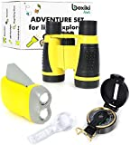 Boxiki Kids Nature Exploration Adventure Toys   5 PC Outdoor Adventure Set   Compass, Magnifying Glass, Flashlight, Backpack & Binoculars For Kids   Educational Outdoor Toys for Boys & Girls
