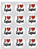 Produkt-Bild: 12 Ich Liebe England design reispapier märchen / becher kuchen 40mm cake topper vorschnitt deko