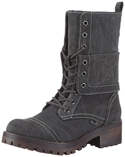 Rocket Dog LAWRENCE, Damen Biker Boots, Grau (GREY), 38 EU (5 Damen UK) (Ankle Over Boot Fold)