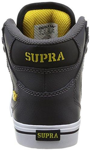 Supra Vaider, Baskets mode garçon Gris (Grey/Black/White)