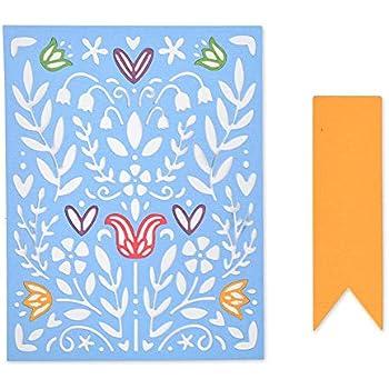 Folk Art One Size Multi Colour Sizzix 3D Impressions Embossing Folder 663613