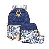 Rucksack Teenager Groß Schulrucksack Casual Daypack Reisetasche mit Mäppchen für Universität Outdoor Freizeit