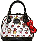 Hello Kitty Handbag Junk Food Small Bowler handbag White Size: UK One Size