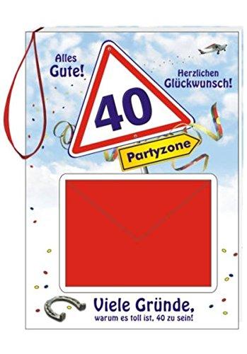 Geburtstags-Geld-Büchlein zum 40: Alles Gute! Herzlichen Glückwunsch