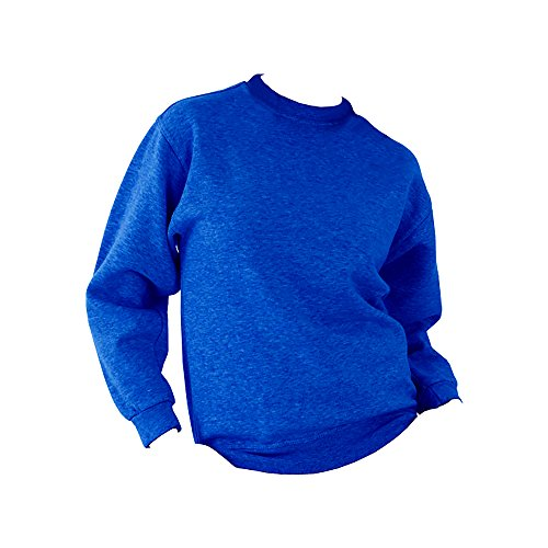 UCC 50/50 Pullover / Sweatshirt, unifarben, Rundhalsausschnitt Grau