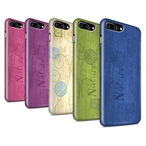 STUFF4 Glanz Snap-On Hülle / Case für Apple iPhone 8 Plus / Gelb Muster / Muster Natur Kollektion Pack (10 pcs)