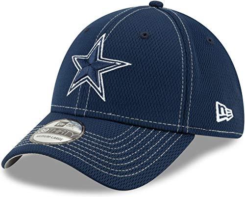 New Era - NFL Dallas Cowboys On Field 2019 Sideline Road 39Thirty Stretch Cap - Blau Größe M-L, Farbe Blau -